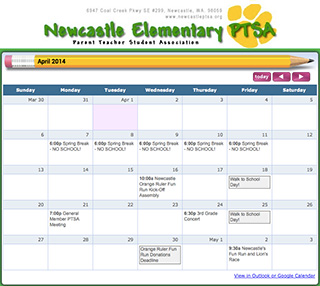 Newcastle PTSA screenshot